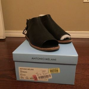 Black Antonio Melani Sandals